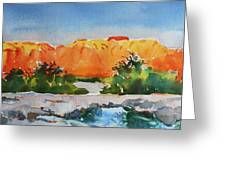West Temple Zion Afternoon Greeting Card