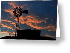 West Texas Cattle Tank Greeting Card
