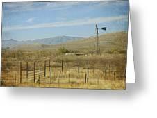 West Texas Ranch Scene II Greeting Card