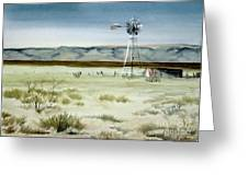 West Texas Windmill Greeting Card
