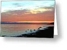 West Vancouver Sunset Greeting Card