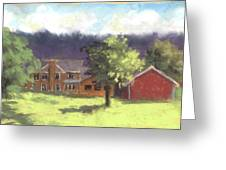 West View Of The Meyer Ranch Greeting Card