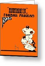 West Virginia 1925 Football Program Greeting Card