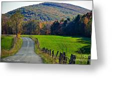 West Virginia Autum On Sandy Ridge Greeting Card