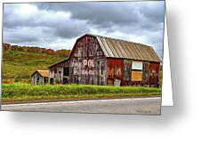 West Virginia Barn Greeting Card