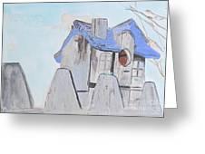 West Virginia Birdhouse Greeting Card