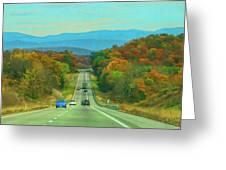 West Virginia Bound Greeting Card by Ola Allen