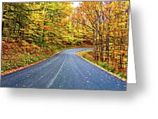 West Virginia Curves - In A Yellow Wood - Paint Greeting Card