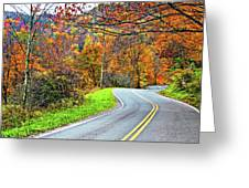 West Virginia Curves Greeting Card