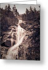West Waterfall Greeting Card
