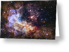 Westerlund 2 - Hubble 25th Anniversary Image Greeting Card