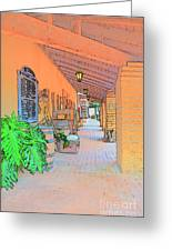 Western Alley Drawing 1 Greeting Card