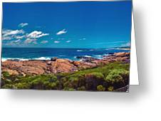 Western Australia Beach Panorama Margaret River Greeting Card