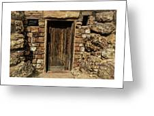 Western Door Greeting Card