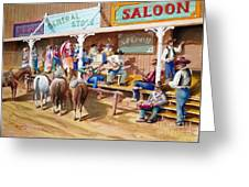 Western Jam Session Greeting Card