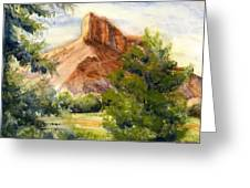 Western Landscape Watercolor Greeting Card