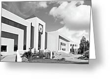 Western Michigan University Stewart Clocktower And Waldow Library Greeting Card by University Icons