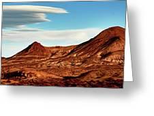 Western Mountain Scene Greeting Card