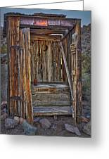Western Outhouse Greeting Card