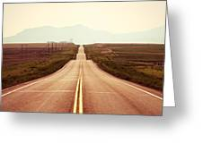 Western Road Greeting Card