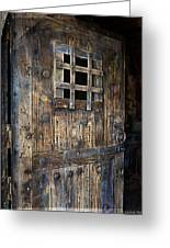 Western Rustic Door Greeting Card