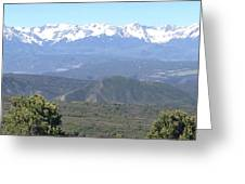 Western Slope Mountains Greeting Card