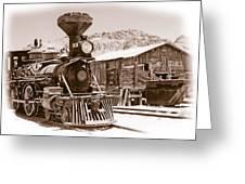 Western Train Greeting Card