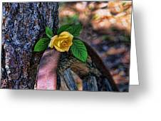 Western Yellow Rose Viii Greeting Card