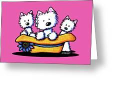 Westie Hat Trio Greeting Card