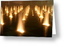 Westin Crown Center Dancing Waters Greeting Card