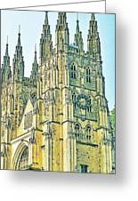 Westminster Abbey Postcard Greeting Card