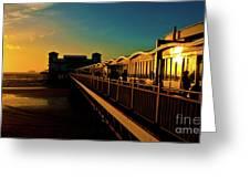 Weston Pier At Sunset Greeting Card
