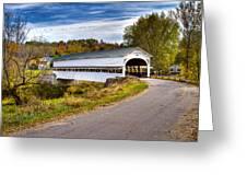 Westport Covered Bridge Greeting Card by Jack R Perry
