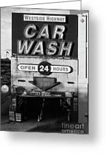 Westside Highway Car Wash Nyc Greeting Card