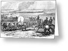 Westward Expansion, 1858 Greeting Card by Granger