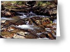 Rocks And Water In Autumn Greeting Card