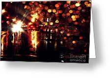 Wet City 3 Greeting Card
