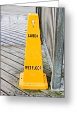 Wet Floor Warning Greeting Card