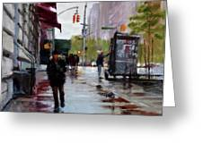 Wet Morning, Early Spring Greeting Card