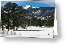 Wet Mountain Valley In Winter Greeting Card