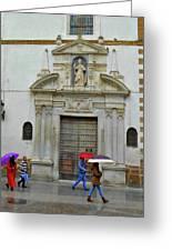 Wet People Door Cadiz Greeting Card