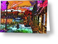 Wet Reflections Greeting Card