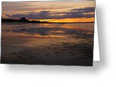 Wet Sand And Clouds 2 Greeting Card