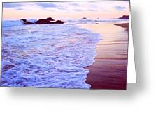 Wet Sand And Foam 2 Ae Greeting Card