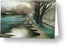 Wet Spring Greeting Card