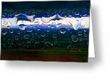 Wet Steel Blue Greeting Card