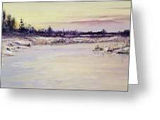 Wetland Winter Greeting Card