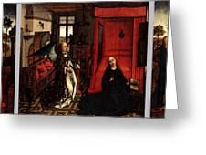 Weyden Annunciation Triptych Greeting Card