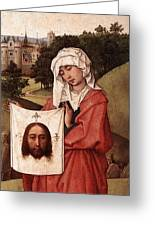 Weyden Crucifixion Triptych  Right Wing  Greeting Card