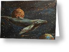 Whale Of The Universe Greeting Card